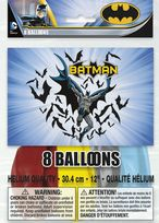 "Batman 12"" Latex Balloons (8)"